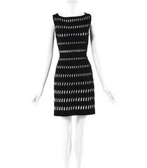 alaia stretch knit cut out dress