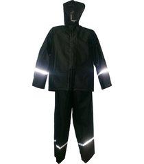 traje impermeable para moto 2 piezas impermeablessdc calibre 25 negro