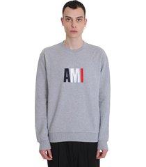 ami alexandre mattiussi sweatshirt in grey cotton