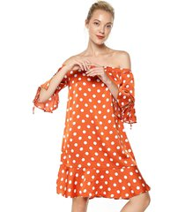 vestido naranja-blanco glamorous
