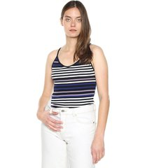 crop top azul-blanco active
