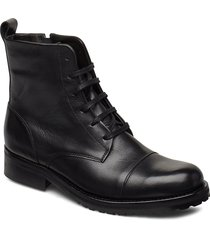 ave lace up boot - black shoes boots ankle boots ankle boot - flat svart royal republiq