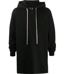 rick owens long-line hoodie - black