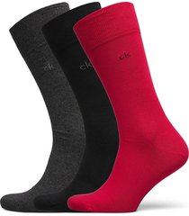 ck 3pk eric cotton 003 underwear socks regular socks röd calvin klein
