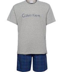 s/s short set pyjamas blå calvin klein