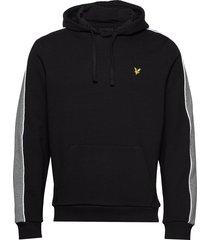 side panel hoodie hoodie trui zwart lyle & scott