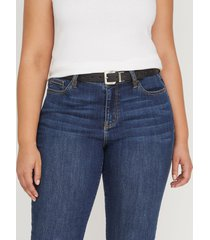 lane bryant women's reversible belt 26/28 black