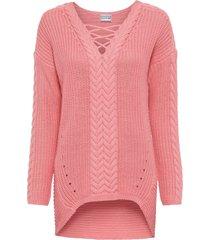 maglione a trecce (rosa) - bodyflirt
