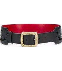 kate cate fire trip waist belt - black