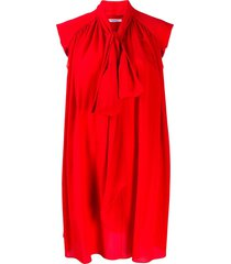 givenchy pleated day dress - red