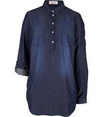 tunica in jeans a maniche lunghe (blu) - john baner jeanswear