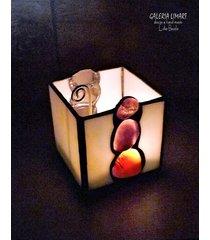 karneol podświetlony. lampion-świecznik prezent