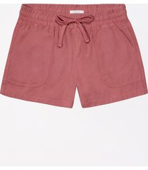 maurices womens high rise pull on weekender 4in shorts red