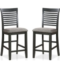 furniture of america cape jervis ladder back counter height chairs, set of 2