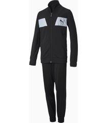 polyester trainingspak, zwart, maat 104 | puma