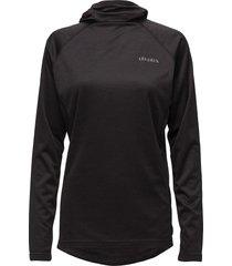 sirius l/s hoodie t-shirts & tops long-sleeved zwart les deux