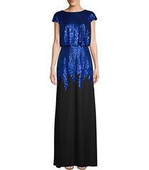 sequin crepe gown