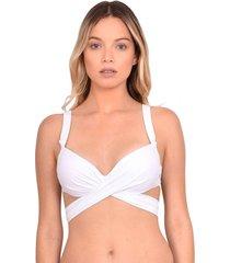 bikini estilo sostén con barba cruzado blanco samia