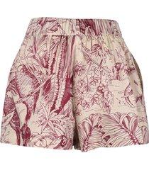 red valentino tropical print shorts