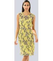 jurk alba moda geel::lila