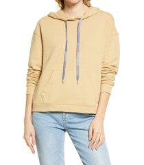women's madewell dip dye drawstring hoodie, size x-large - beige