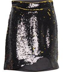 sequins kort kjol svart ganni