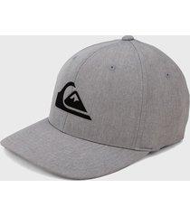 gorra gris-negro quiksilver mens amped up flexfit cap