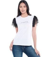 camiseta abstracta bolero blanca
