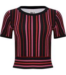 camiseta con fajon color rojo, talla 12