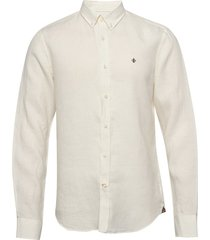douglas linen shirt overhemd casual crème morris