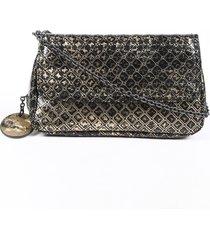 bottega veneta antiqued metallic intrecciato crossbody bag