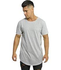 camiseta di nuevo longa moda abaloada básica swag lisa masculina - masculino