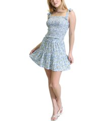 kit & sky floral-print mini skirt