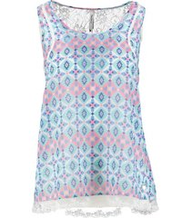 pepe jeans polyester top met kant