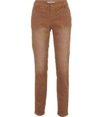 pantaloni di velluto elasticizzato skinny (marrone) - john baner jeanswear