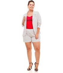 blazer melinde plus size náutico feminino