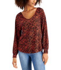 willow drive printed top