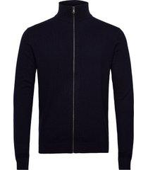 cosy jacket stickad tröja cardigan blå tom tailor