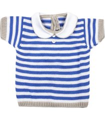little bear striped cotton sweater