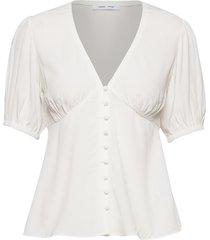 petunia ss blouse 10056 blouses short-sleeved vit samsøe samsøe
