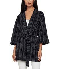 bcbgmaxazria striped kimono