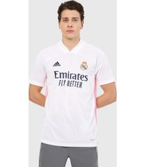 camiseta blanco-rosa-azul adidas performance real madrid 20/21