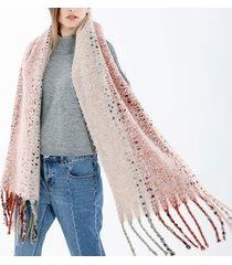 sciarpa di scialle di lana di scialle di sciarpa di scialle di mescolanza di lana di nappa di stile etnico di donne etniche