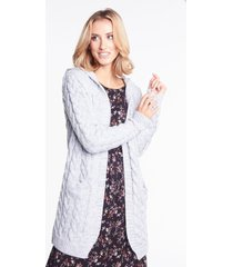 szary sweter z kapturem blanca