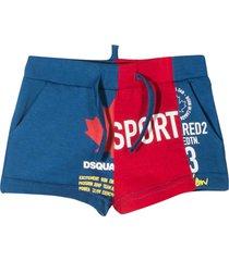 dsquared2 blue shorts