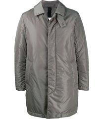 mackintosh thermal short coat - grey