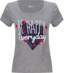 camiseta descanso mujer everyday color gris, talla s