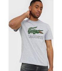 lacoste t-shirt t-shirts & linnen silver