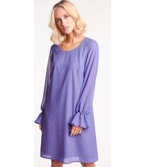 niebieska sukienka brokatowa