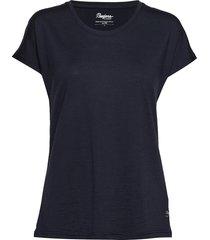 oslo wool w tee t-shirts & tops short-sleeved zwart bergans